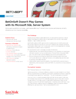 BetOnSoft Doesn't Play Games with Its Microsoft SQL Server 2012 System