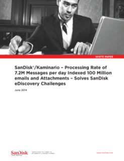 SanDisk Kaminario Solves SanDisk e-Discovery Challenges