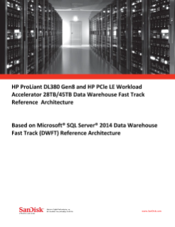 HP DL380 Gen8 and HP LE PCIe Workload Accelerator 28TB/45TB Data Warehouse Fast Track Reference Architecture